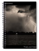 Lightning Energy Poster Print Spiral Notebook