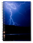 Lightning Fork In The Hills Spiral Notebook