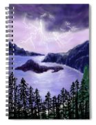 Lightning In Purple Clouds Spiral Notebook