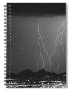 Lightning Long Exposure Spiral Notebook
