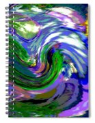 Lightning On Ocean Spiral Notebook