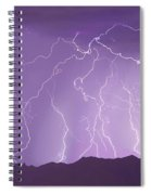 Lightning Over The Mountains Spiral Notebook
