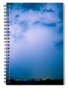 Lightning Rainbow Blues Spiral Notebook