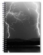 Lightning Storm 08.05.09 Bw Spiral Notebook