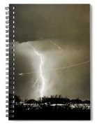Lightning Storm City Lights Jet Airplane Fine Art Photography Spiral Notebook