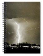 Lightning Storm City Lights Jet Airplane Fine Art Photography Spiral Notebook
