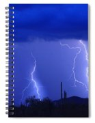 Lightning Storm In The Desert Fine Art Photography Print Spiral Notebook