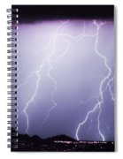 Lightning Storm North Scottsdale Az 85255 Spiral Notebook