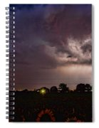 Lightning Stormy Weather Of Sunflowers Spiral Notebook