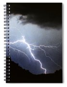 Lightning Strike Bump In The Road Spiral Notebook