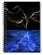 Lightning Strikes Spiral Notebook