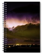 Lightning Thunderstorm Cloud Burst Spiral Notebook
