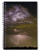 Lightning Thunderstorm With A Hook Spiral Notebook