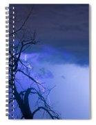 Lightning Tree Silhouette 38 Spiral Notebook