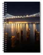 Lights By The Bay Spiral Notebook