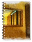 Lights Early Reflection Spiral Notebook