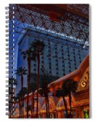 Lights In Down Town Las Vegas Spiral Notebook