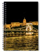 Lights Of Budapest Spiral Notebook