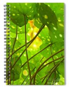 Ligularia Tussilaginea Spiral Notebook