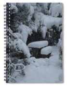 A Snowy Secret Garden Spiral Notebook