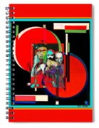 Like Burrow In It's Abstract Burroughs The Word On It's Side Spiral Notebook