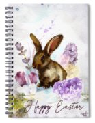 Lilac And Bunny Spiral Notebook