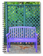 Lilac And Teal Garden Spiral Notebook