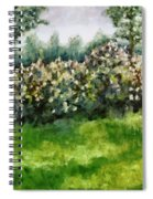 Lilac Bushes In Springtime Spiral Notebook