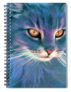 Lilac Cat Spiral Notebook