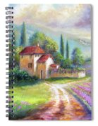 Lilac Fields In The Italian Countryside   Spiral Notebook