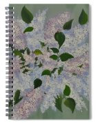 Lilac Flowers Expressing Harmony Spiral Notebook