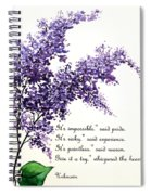Lilac  Poem Spiral Notebook