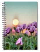 Lilac Poppy Flowers Spiral Notebook