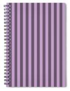 Lilac Purple Striped Pattern Design Spiral Notebook