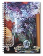 Lilacs And Candles Spiral Notebook