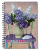 Lilacs With Chair And Shell Spiral Notebook