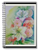 Lilies And Mums Spiral Notebook