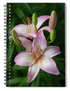 Lilies And Raindrops Spiral Notebook