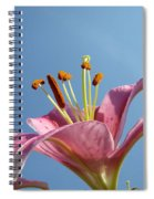 Lilies Art Prints Pink Lily Flower Giclee Art Prints Baslee Troutman Spiral Notebook