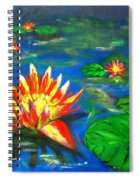 Lilies By The Pond Spiral Notebook