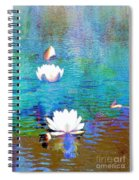 Lilies In Abstract Spiral Notebook