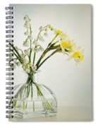 Lilies Of The Valley In A Glass Vase Spiral Notebook