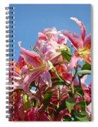 Lilies Pink Lily Flowers Art Prints Floral Summer Garden Baslee Troutman Spiral Notebook