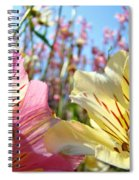 Lilies Pink Yellow Lily Flowers Canvas Art Prints Baslee Troutman Spiral Notebook