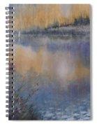 Lilies' Violet, Original Watercolor Spiral Notebook