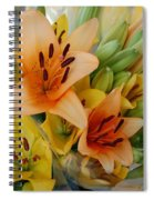 Lillies - Peach And Yellow Colors Spiral Notebook