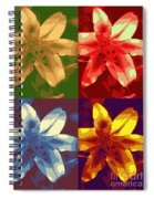 Lillies Of Four Spiral Notebook