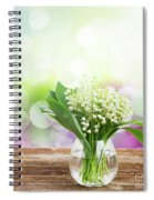 Lilly Of Valley Posy In Glass Spiral Notebook