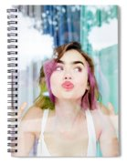 Lily Collins Spiral Notebook
