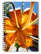 Lily Flower Artwork Orange Lilies 3 Giclee Art Prints Baslee Troutman Spiral Notebook